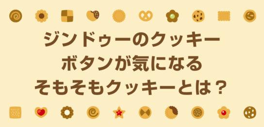 ジンドゥーのクッキーボタンが気になる。そもそもクッキーとは?